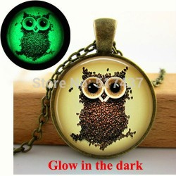 Glow In The Dark Owl Coffee Bean