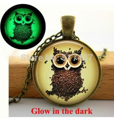 Glow In The Dark Owl Coffee Bean